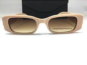 Óculos Retangular Balenciaga Dynasty 621643 - Bege