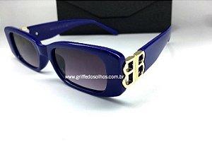 Óculos Retangular Balenciaga Dynasty 621643 - Azul