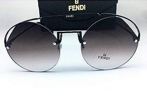 Fendi Ribbons Crystals Preto Degrade - Oculos de Sol