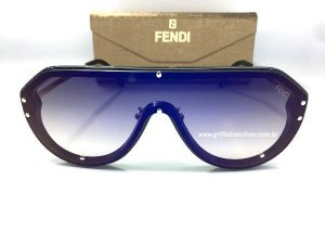 Óculos de Sol Fendi - Máscara  Azul  FF-M0039  Lentes Azul Espelhada Unissex