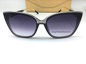 Oculos de Sol Burberry Gatinho - Armação Cinza Transparente