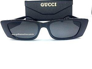 Oculos de Sol Retro Gucci Quadrado Retangular
