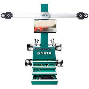 Alinhador de Direção 3D - Sata - Com Monitor, Computador, Impressora, Gabinete e Ferramentas Inclusas