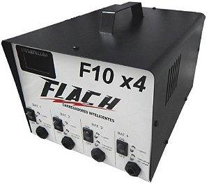 Carregador de Baterias Inteligente - Flach F10x4 - Até 4 Baterias Simultâneas