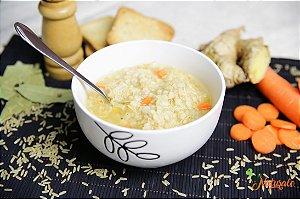 SC08 - Sopa canja de galinha light com arroz integral, cenoura e gengibre