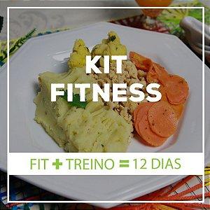 KIT FIT 12 dias - 12 Marmitas Fitness (300 ou 400g)  e 12 Marmitas Treino (200g)