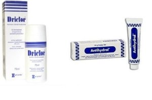 Driclor + Antihydral- Suor no corpo, pés e mãos
