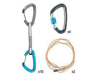 Sport Climbing Package - Conjunto Esportivo - (10 Mosquetões Phase, 2 Mosquetoes ReactScrewlock, 2 Fitas Low Bulck)