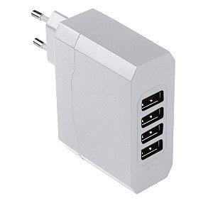 Carregador Tomada 4 saídas USB Bivolt 5v 4.8a Cb076 Multilaser
