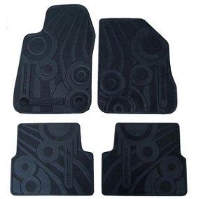 Jogo de Tapetes Borracha PVC Onix Prisma - Tapete Peças Genuínas GM Chevrolet 2013 em diante 52042049