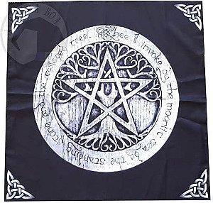 Toalha Pentagrama e Árvore (Altar/ Tarot/ Leitura Oráculos)