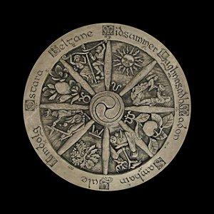 Toalha - Roda do Ano (Tarot/ Altar/ Leitura de Oráculos)