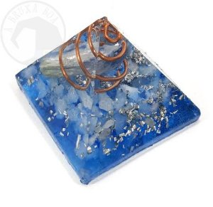 Mini Pirâmide - Orgonite (Azul)