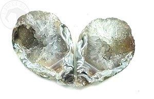 Mini Geodo Gêmeo de Ágata - 44g