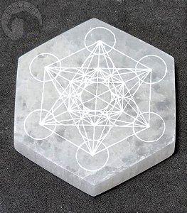 Selenita Hexagonal - Cubo de Metraton