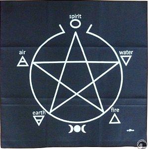 Toalha Preta Pentagrama