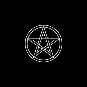 Toalha para Altar/ Leitura - Pentagrama (Preta)