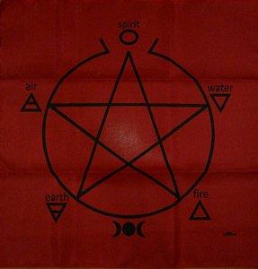 Toalha Pentagrama - Vermelha
