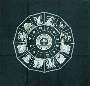 Toalha do Zodíaco - preta