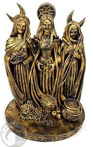 Tríplice - As Três Faces da Deusa - Resina pintada à mão