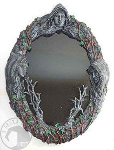 Espelho Negro Deusa Tríplice - Parede