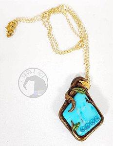 Amuleto Howlita Turquesa