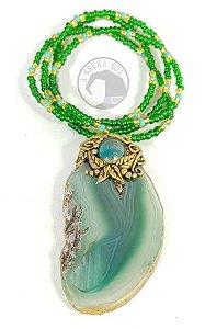 Amuleto de Ágata Verde