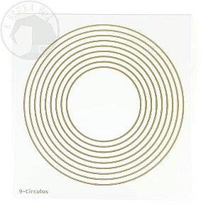 Gráfico 9 Círculos - 14 x 14 cm