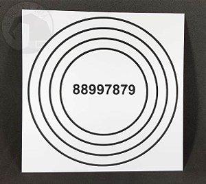Gráfico Anti Dor - PVC - 17 x 17 cm
