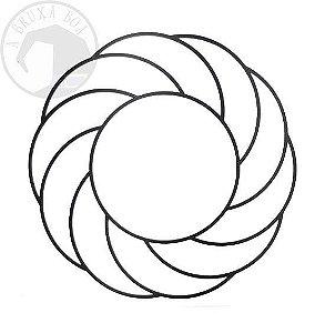 Gráfico Turbilhão - PVC - 17 x 17 cm