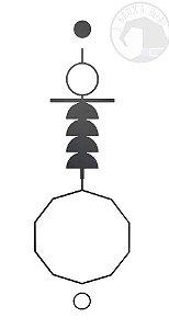 Gráfico Cruz Ansata - PVC