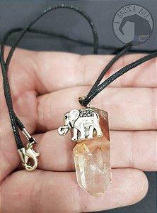 Amuleto Cristal e Elefante