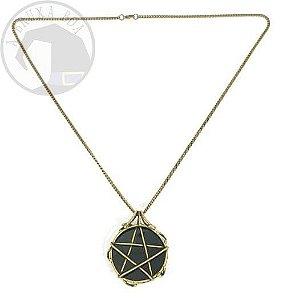 Amuleto Obsidiana e Pentagrama