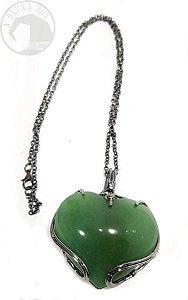 Amuleto - Coração em Quartzo Verde