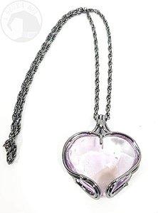 Amuleto - Coração em Ametista