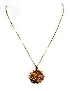 Amuleto Olho de Tigre com Pentagrama