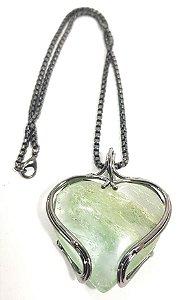 Amuleto - Coração em Fluorita Verde
