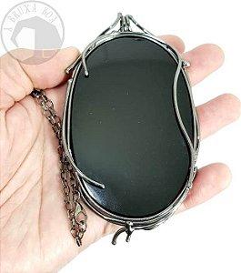 Espelho Negro em Obsidiana