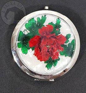 Espelho Duplo de Bolsa - Flores