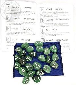 Jogo de Runas - Quartzo Verde