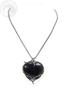 Amuleto - Coração em Obsidiana