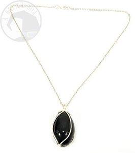 Amuleto/ Talismã - Ovo em Obsidiana