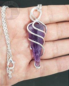 Amuleto - Pêndulo de Ametista
