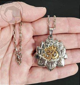 Colar OM - Flor de Lotus