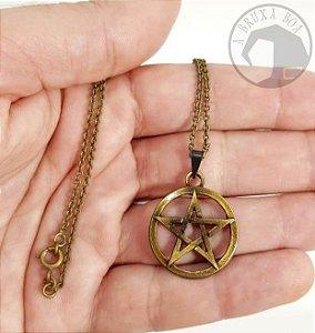 Colar Pentagrama (Vazado)