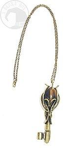 Amuleto - Chave de Hécate com Olho de Tigre