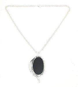 Amuleto Espelho Negro de Obsidiana