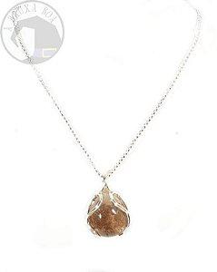 Amuleto - Gota de Quartzo Xamã