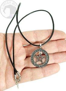 Colar Pentagrama com Símbolos Rúnicos