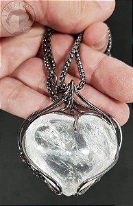 Amuleto - Coração de Cristal - Grafite